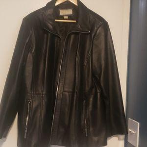 Black leather Michael Kors jacket